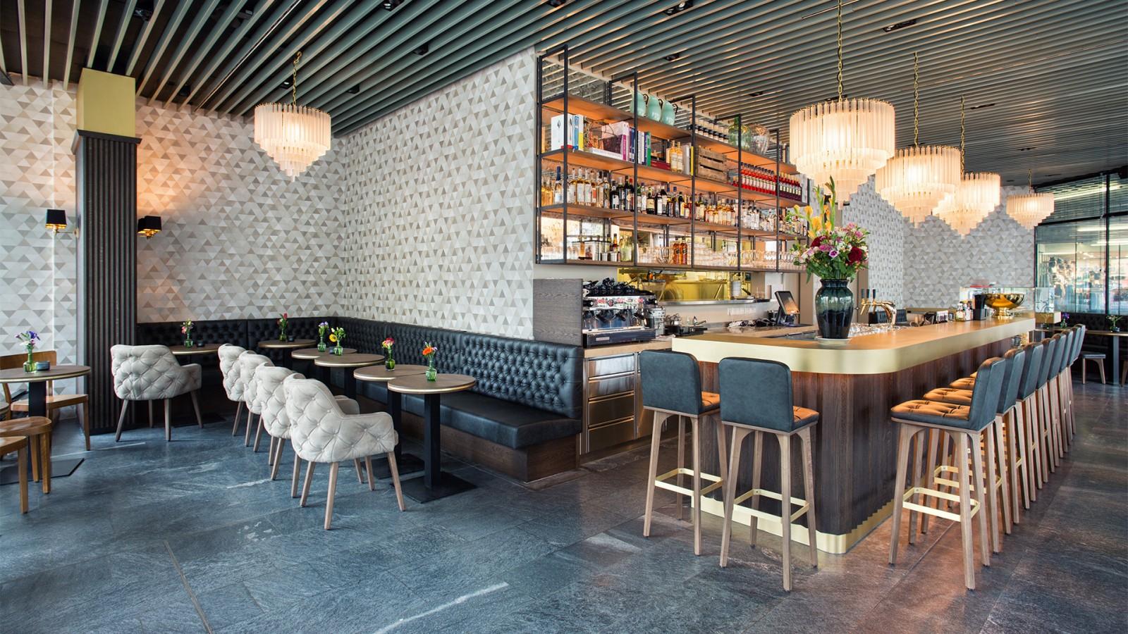 Grand caf lochergut dyer smith frey interior for Kitchen design zurich